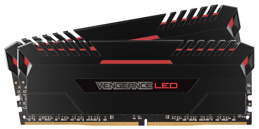Модуль памяти CORSAIR Vengeance LED CMU32GX4M2A2666C16R DDR4 -  2x 16Гб 2666, DIMM,  Ret
