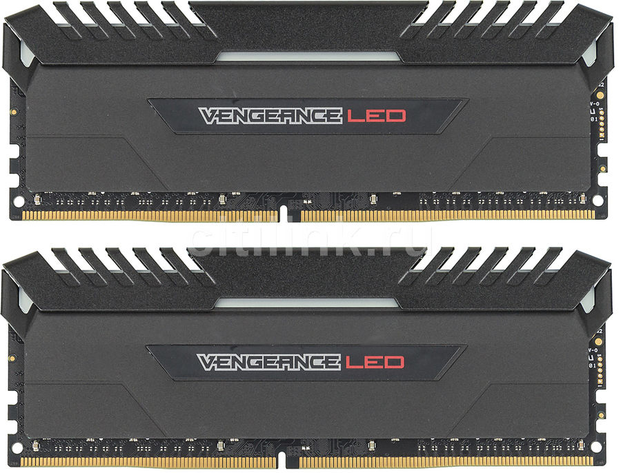 Модуль памяти CORSAIR Vengeance LED CMU32GX4M2C3000C15R DDR4 -  2x 16Гб 3000, DIMM,  Ret