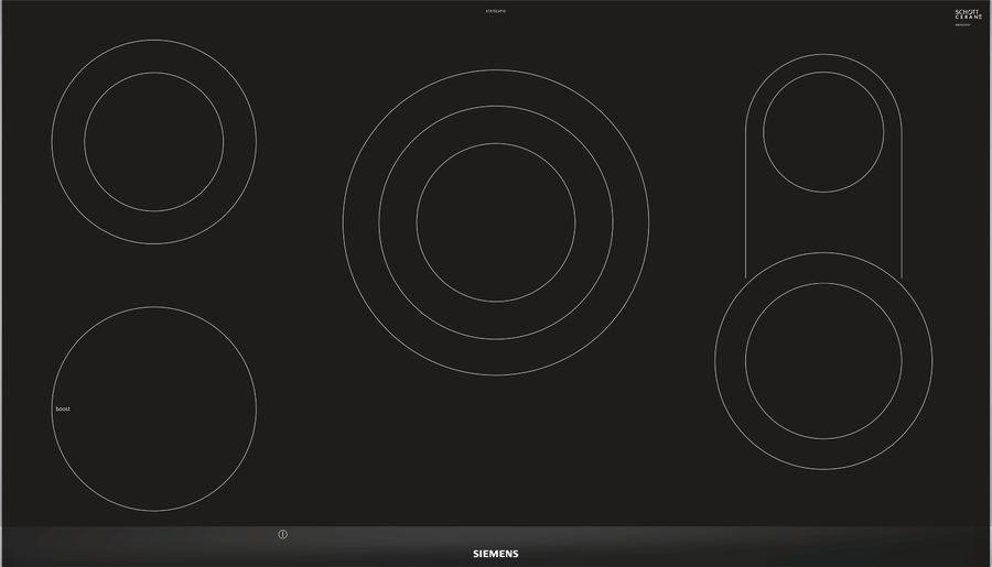 Варочная поверхность SIEMENS ET975LVP1D,  Hi-Light,  независимая,  черный