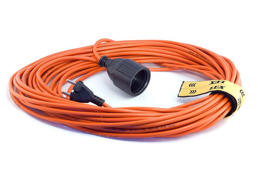 Удлинитель силовой LUX УС1-О-50 (У-101) (10150) 2x0.75кв.мм 1розет. 50м ПВС 6A без катушки