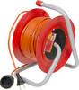 Удлинитель силовой LUX К1-О-25 (22025) 2x0.75кв.мм 1розет. 25м ПВС 6A катушка оранжевый вид 1
