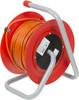 Удлинитель силовой LUX К4-О-25 (24025) 2x0.75кв.мм 4розет. 25м ПВС 10A катушка вид 2