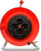 Удлинитель силовой LUX К4-Е-25 (24125) 3x0.75кв.мм 4розет. 25м ПВС 10A катушка вид 3