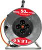 Удлинитель силовой LUX К4-Е-50 (40150) 3x1.5кв.мм 4розет. 50м ПВС 16A метал.катушка вид 3