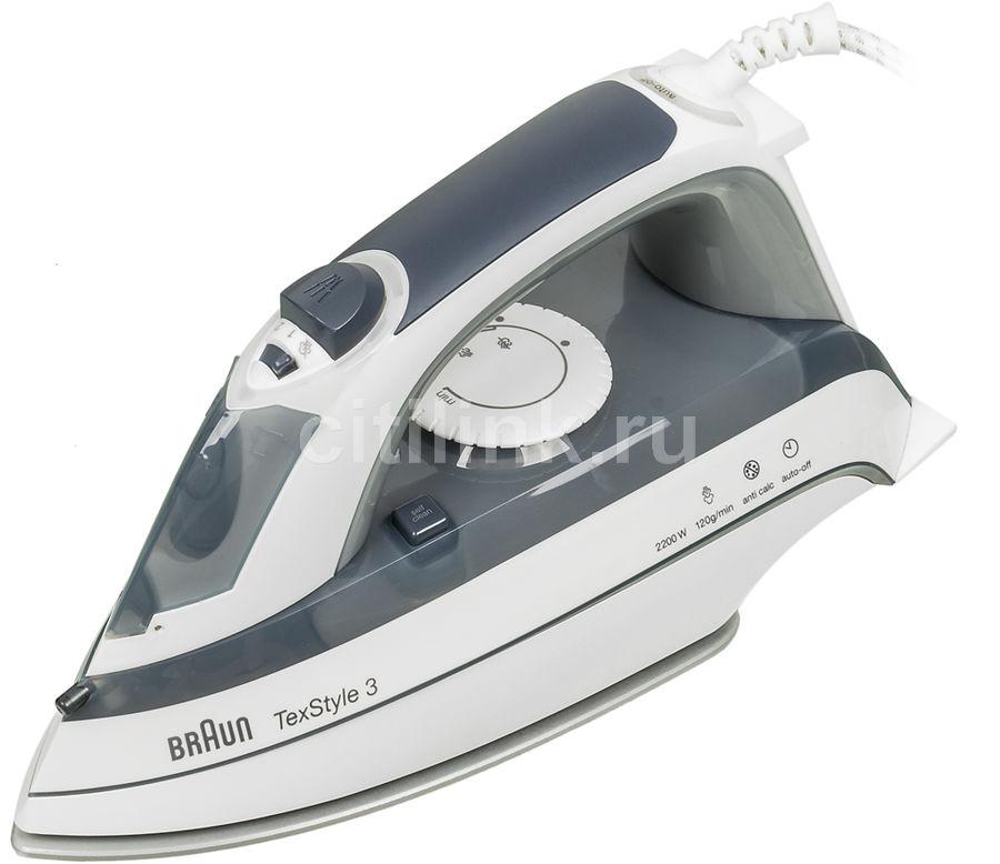 Утюг BRAUN TS375A,  2200Вт,  серый/ белый [0127394029]