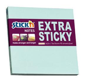 Блок самоклеящийся бумажный Hopax 21663 76x76мм 90лист. 70г/м2 пастель голубой усиленный клей