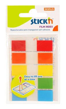 Закладки самокл. индексы пластиковые Hopax 26071 45x12мм 5цв.в упак. 20лист с цветным краем Z-сложен