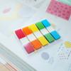 Закладки самокл. индексы пластиковые Hopax 26071 45x12мм 5цв.в упак. 20лист с цветным краем Z-сложен вид 2