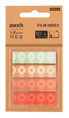 Закладки самокл. индексы пластиковые Stick`n 28122 45x12мм 4цв.в упак. 20лист с рисунками Z-сложение