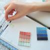 Закладки самокл. индексы пластиковые Stick`n 28122 45x12мм 4цв.в упак. 20лист с рисунками Z-сложение вид 3