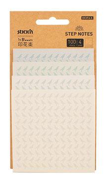 Блок самоклеящийся бумажный Stick`n inBlooom 28074 100лист. 4цв.в упак. с рисунками несколько размер