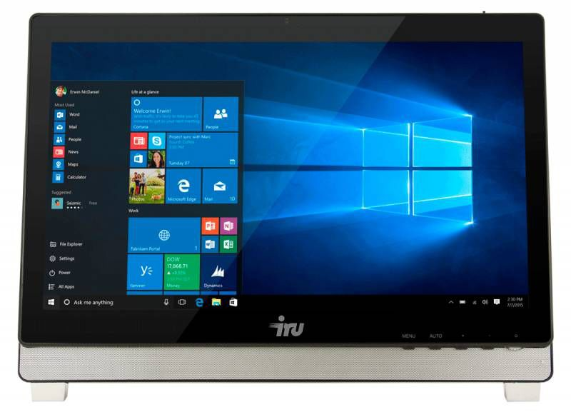 Моноблок IRU Office K2101, Intel Core i3 4160, 4Гб, 500Гб, Intel HD Graphics 4400, DVD-RW, Windows 7 Professional, черный [381544]