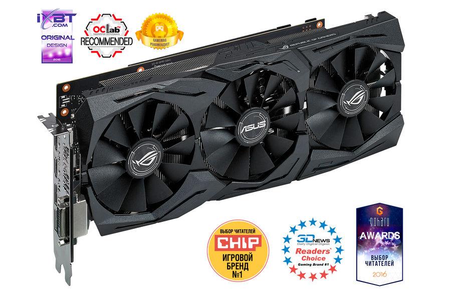 Видеокарта ASUS GeForce GTX 1070,  STRIX-GTX1070-O8G-GAMING,  8Гб, GDDR5, OC,  Ret