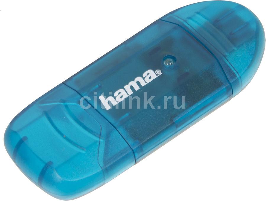 Картридер внешний HAMA H-114730, синий [00114730]