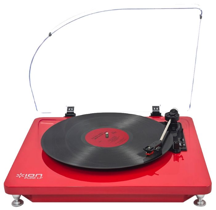 Проигрыватель винила ION Audio PURE LP RD ручной красный