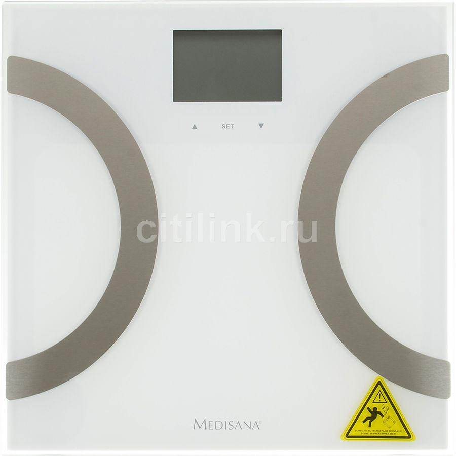 Весы MEDISANA BS 445 Connect, до 180кг, цвет: белый/серебристый [40441]