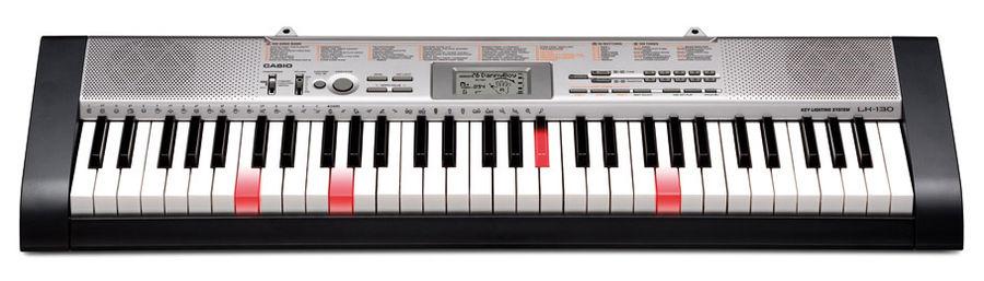 Синтезатор CASIO LK-130, 61, невзвешенная, полноразмерные, 12, черный