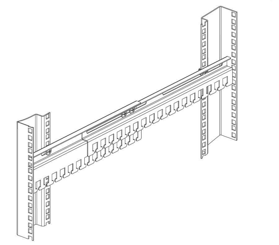Кабельный органайзер Горизонтальный ЦМО (ГКО-45-100) двухсторонний окна 1U глуб.:67.6мм
