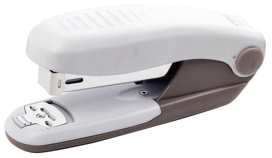Степлер Deli E0322 24/6 26/6 (25листов) ассорти/серый 100скоб металл коробка