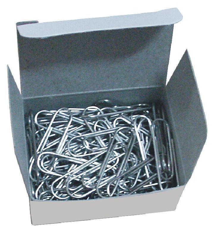 Скрепки Deli E0050 никелированные 50мм (упак.:100шт) картонная коробка