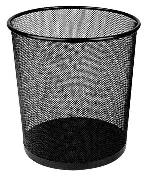 Корзина для бумаг DELI E9190, 12л, мет.сетка, круглая, черный