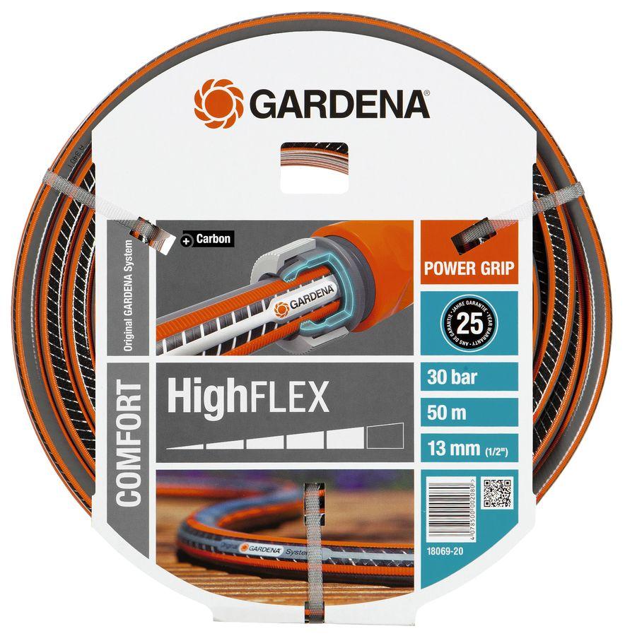 """Шланг Gardena Highflex 10x10 1/2"""" 50м поливочный армированный (18069-20.000.00)"""