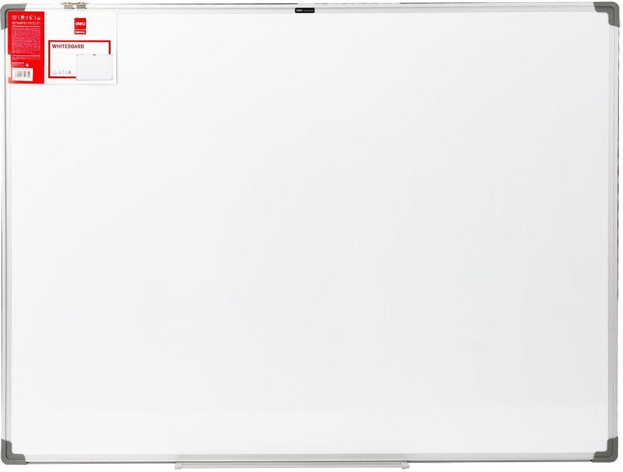 Демонстрационная доска Deli E39034A магнитно-маркерная лак 90x120см алюминиевая рама белый