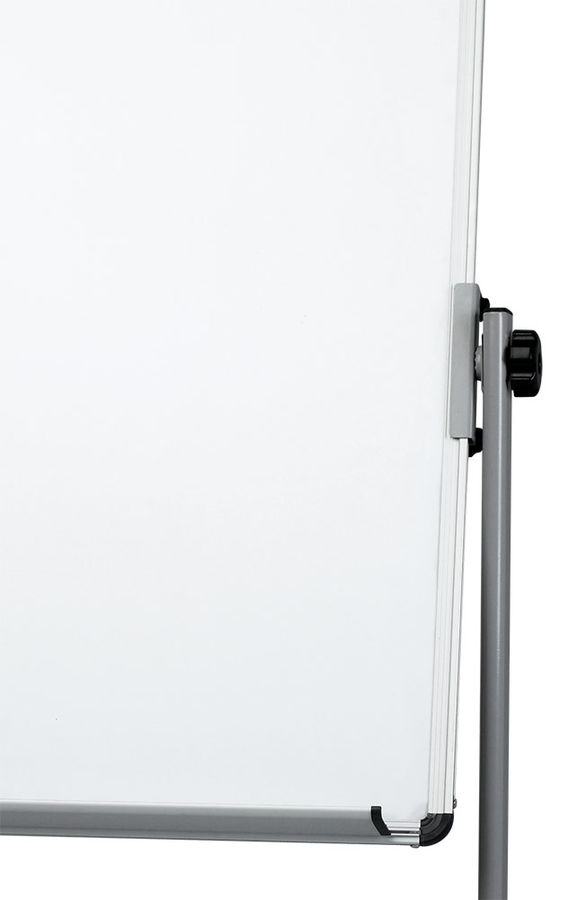 Флипчарт Deli E7893 сталь магнитно-маркерная лак 60х90см на роликах алюминиевая рама белый лоток для