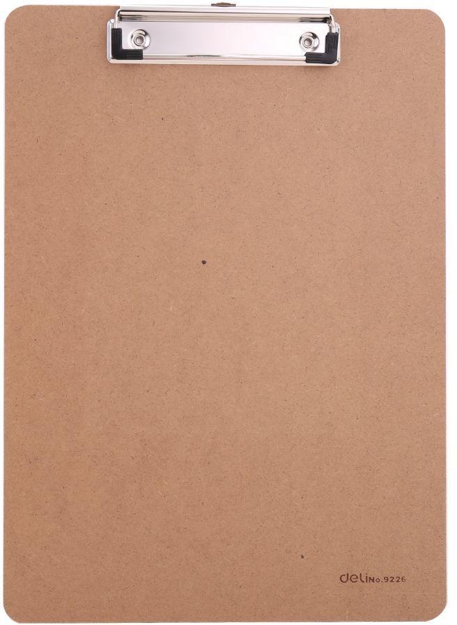 Папка клип-борд Deli E9226 A4 древесная плита бежевый