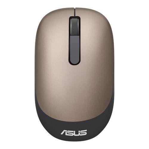 Мышь ASUS WT205, оптическая, беспроводная, USB, золотистый [90xb03m0-bmu000]