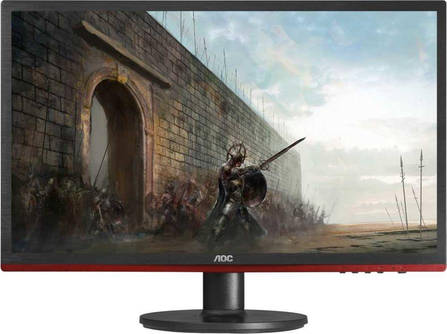 """Монитор AOC Gaming G2460VQ6 24"""", черный/красный и черный"""