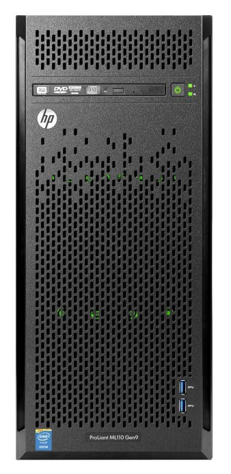 Сервер HPE ProLiant ML110 Gen9 1xE5-2620v4 1x8Gb x4 3.5 B140i 1G 2P 1x350W 3-1-1 (838503-421)Серверы<br>Hot Swap HDD<br><br>Линейка: ProLiant