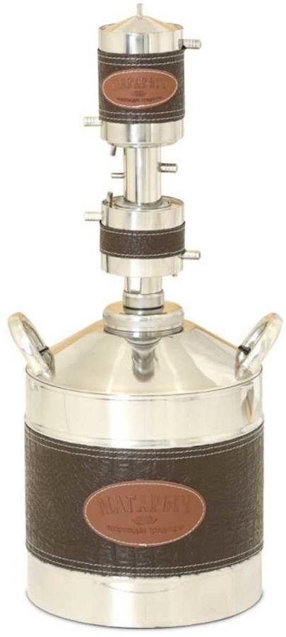 Дистиллятор Магарыч Машковского Экспорт 12 2.5л/ч V=12л корпус:искуст.кожа серебристый/коричневый