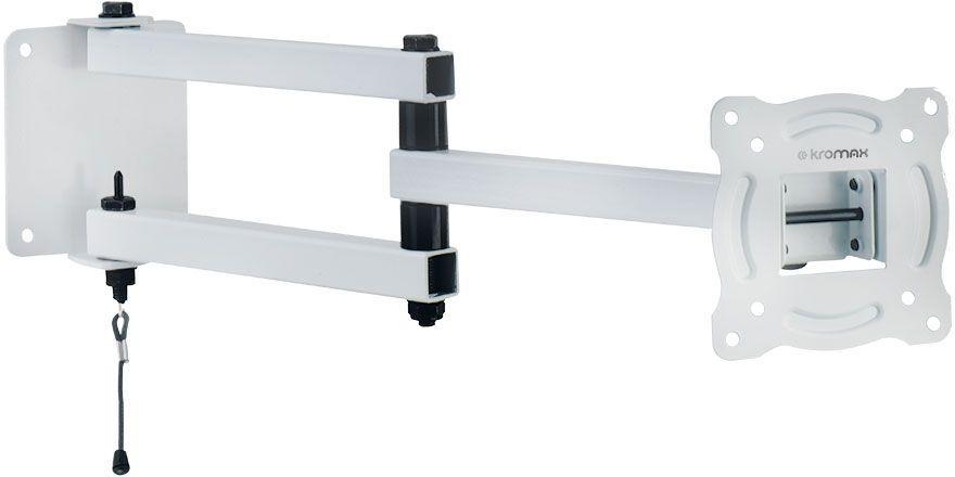"""Кронштейн для телевизора Kromax AUTO-ARM-1 белый 10""""-28"""" макс.20кг настенный поворот и наклон [20229]"""