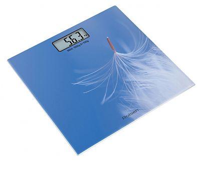 Весы ROLSEN RSL1519LIGHT, до 150кг, цвет: синий/рисунок