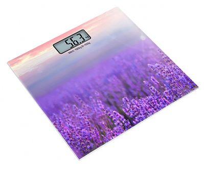 Весы ROLSEN RSL1519PROVENCE, до 150кг, цвет: фиолетовый/рисунок