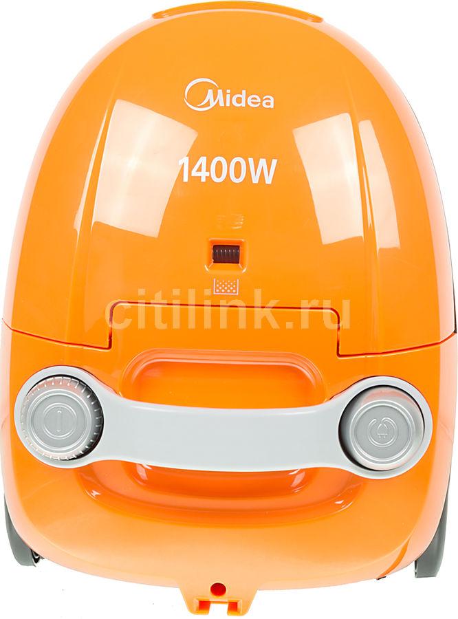 Пылесос MIDEA VCB33A3, 1400Вт, оранжевый