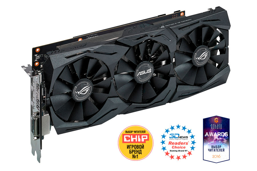 Видеокарта ASUS nVidia GeForce GTX 1060 , STRIX-GTX1060-6G-GAMING, 6Гб, GDDR5, OC, Ret видеокарта asus dual gtx1060 o6g 6гб gddr5 oc ret