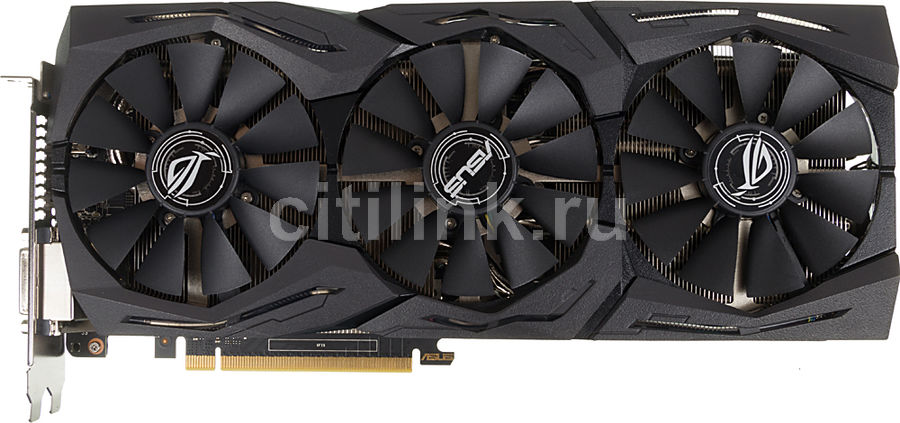 Видеокарта ASUS GeForce GTX 1060,  STRIX-GTX1060-6G-GAMING,  6Гб, GDDR5, OC,  Ret