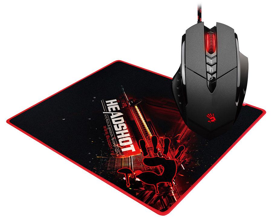 Мышь A4 Bloody V7M71, игровая, оптическая, проводная, USB, черный [v7m+b-071]