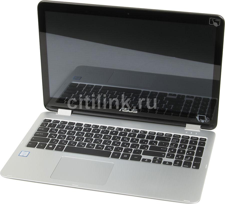 """Ноутбук-трансформер ASUS TP501UA-CJ116T, 15.6"""", Intel  Core i5  6200U 2.3ГГц, 4Гб, 1000Гб, Intel HD Graphics  520, Windows 10, 90NB0AI1-M01660,  темно-серый"""