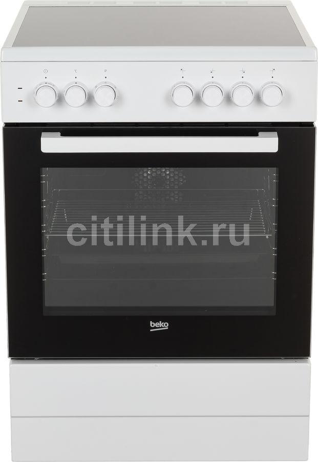 Электрическая плита BEKO FSE67100GWS,  стеклокерамика,  белый