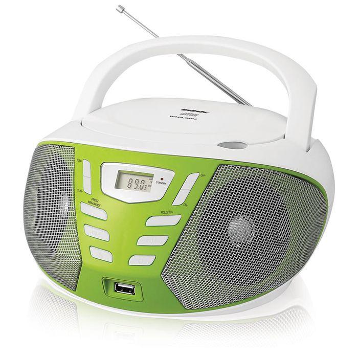 Аудиомагнитола BBK BX193U,  белый и зеленый