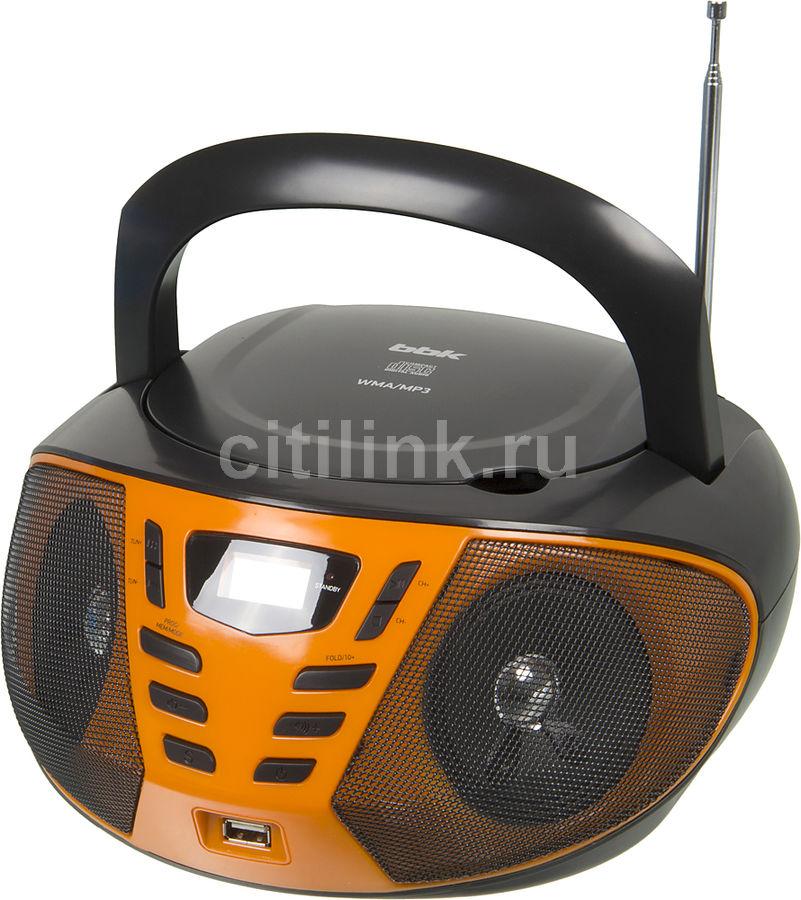 Аудиомагнитола BBK BX193U,  черный и оранжевый