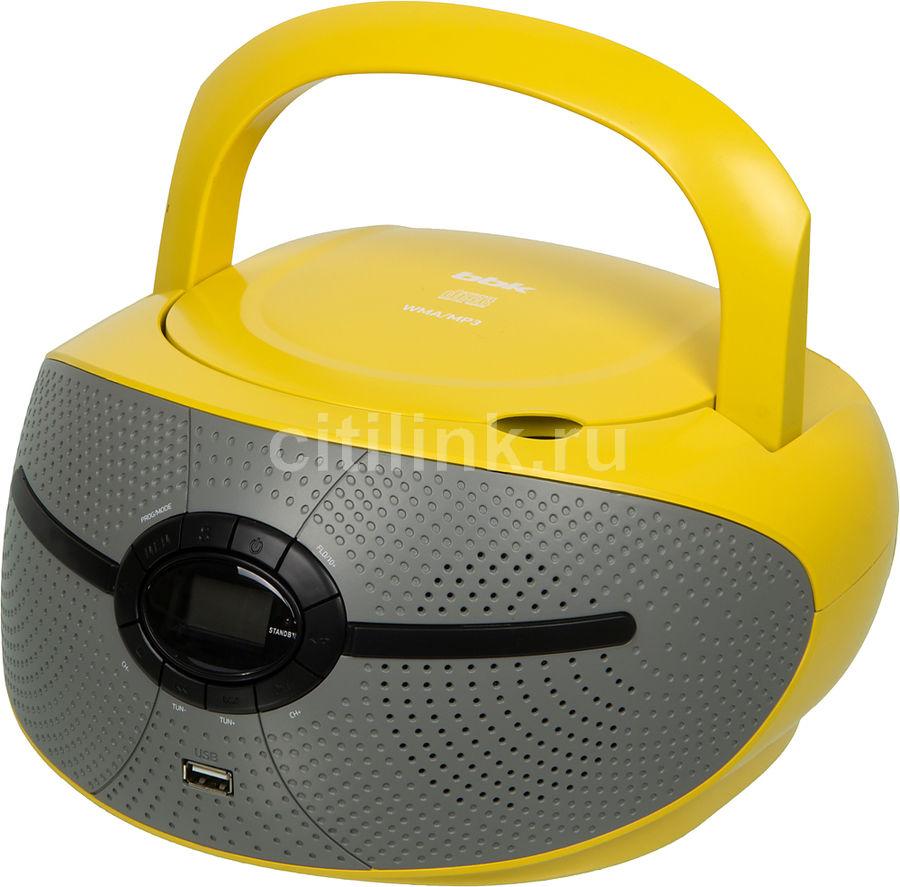 Аудиомагнитола BBK BX195U,  желтый