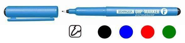 Маркер перманентный для CD/DVD Stanger fine 710010 (толщина линии 0.6мм) OHP черный