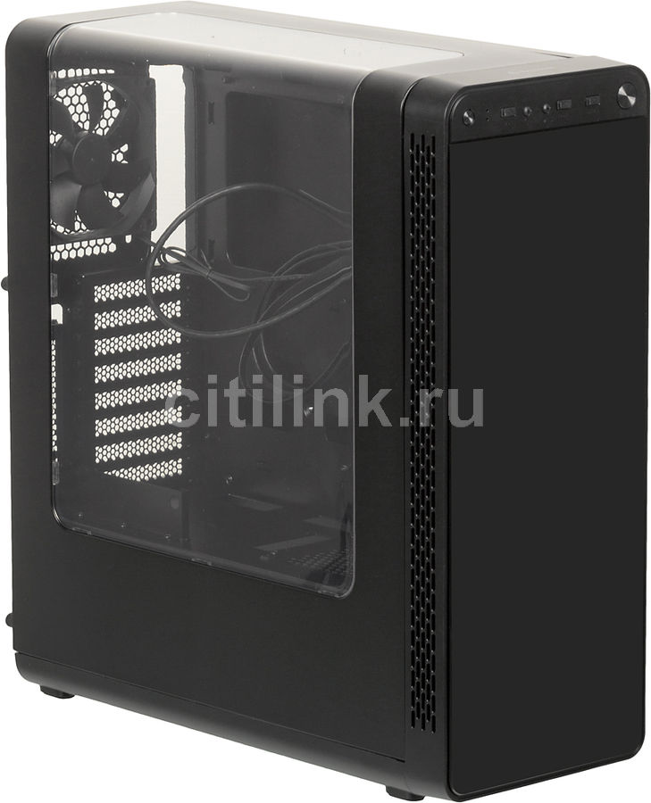 Корпус ATX THERMALTAKE View 27, Midi-Tower, без БП, черный