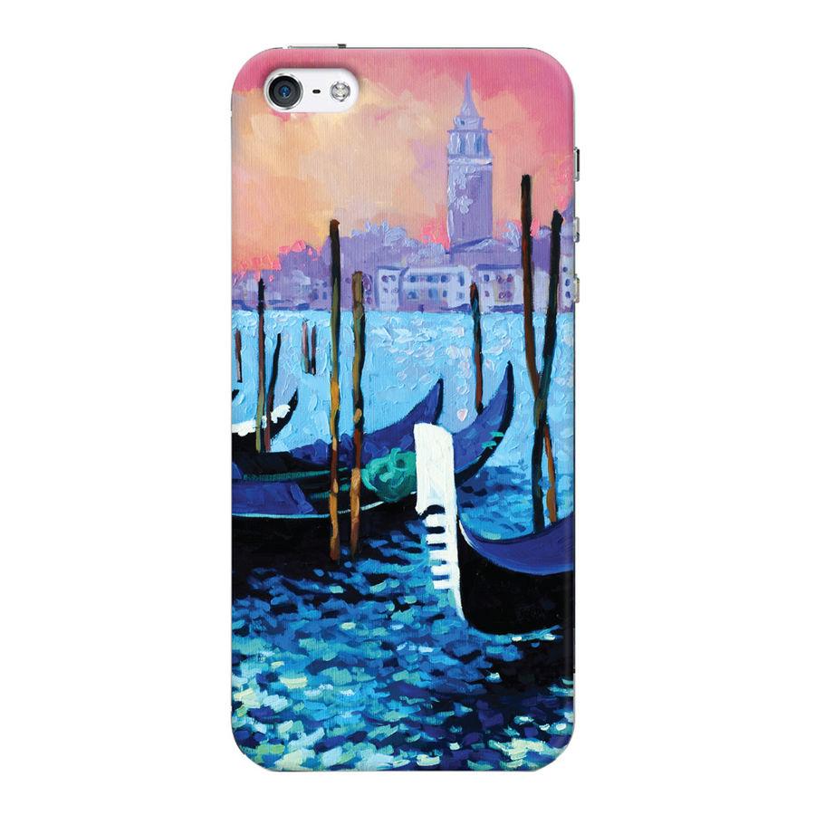 Чехол (клип-кейс) DEPPA Art case Венеция, для Apple iPhone 5/5s/SE, прозрачный [101329]
