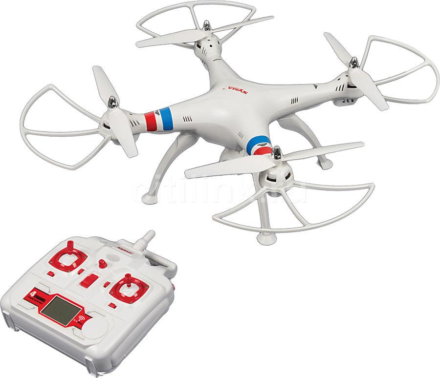 Квадрокоптер SYMA X8W, с камерой, белый [x8w white]