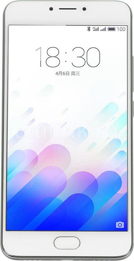 Смартфон MEIZU M3 Note L681H  16Gb, серебристый/белый